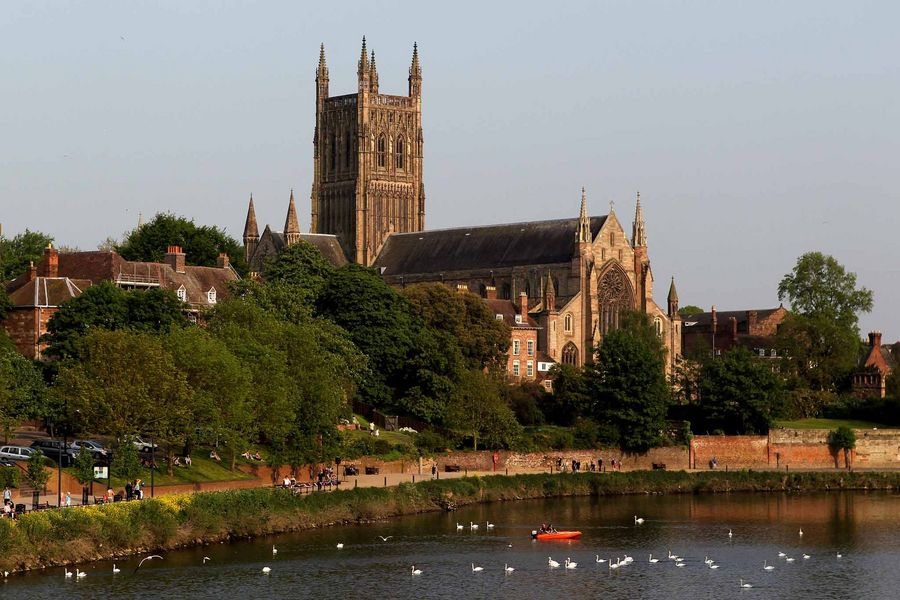 A general view of Worcester Cathedral.