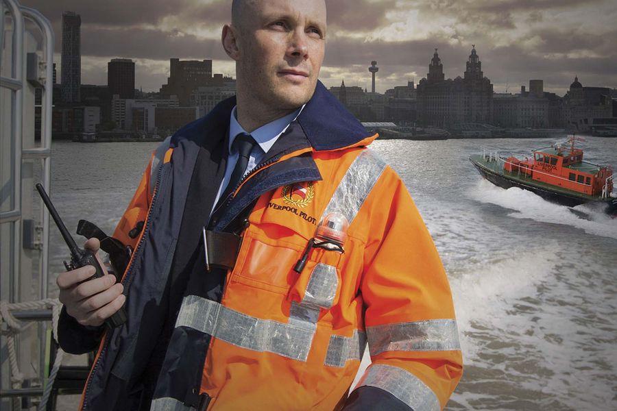 James Smart of the Liverpool Pilotage Service on board a pilot launch boat in the river Mersey off Liverpool. The Liverpool Pilotage service celebrated its 250th anniversary in 2016.Photo: Colin McPherson, 2016.