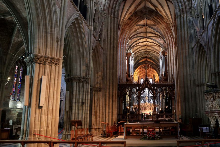A general view of the interior of Worcester Cathedral