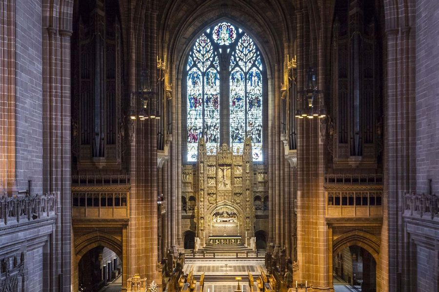 The interior of Liverpool Cathedral.Photo: Danny Lawson.Copyright: PA Wire/PA Images.