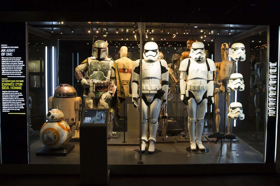 The STAR WARS Identities: The Exhibition opens at The O2 in London, featuring over 200 props, models, costumes and artwork from the original films.Photo: Craig Gunn.Copyright: PA Wire/PA Images.