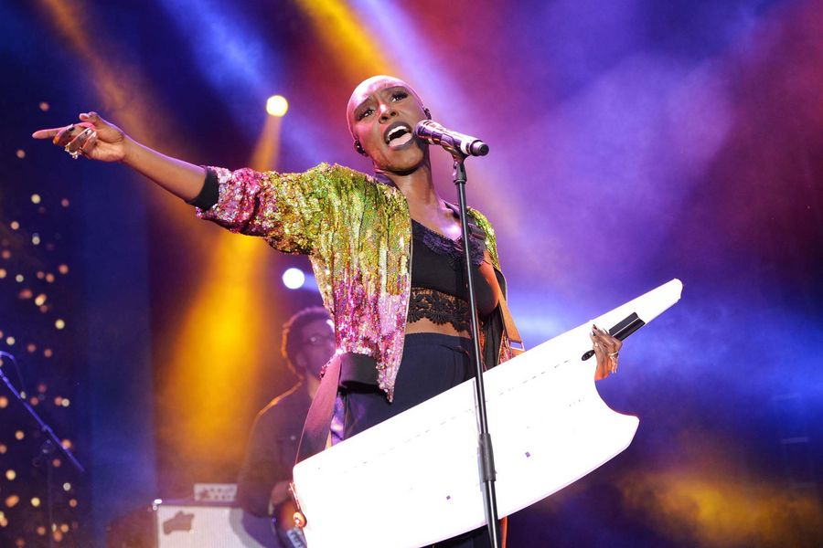 Laura Mvula performing during a concert hosted by Prince Harry's charity Sentebale in Kensington Palace Gardens, London.Photo: Dominic Lipinski.Copyright: PA/Press Association Images.