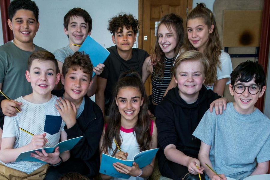 Some of the young stars of The Secret Diary Of Adrian Mole Aged 13 3/4.