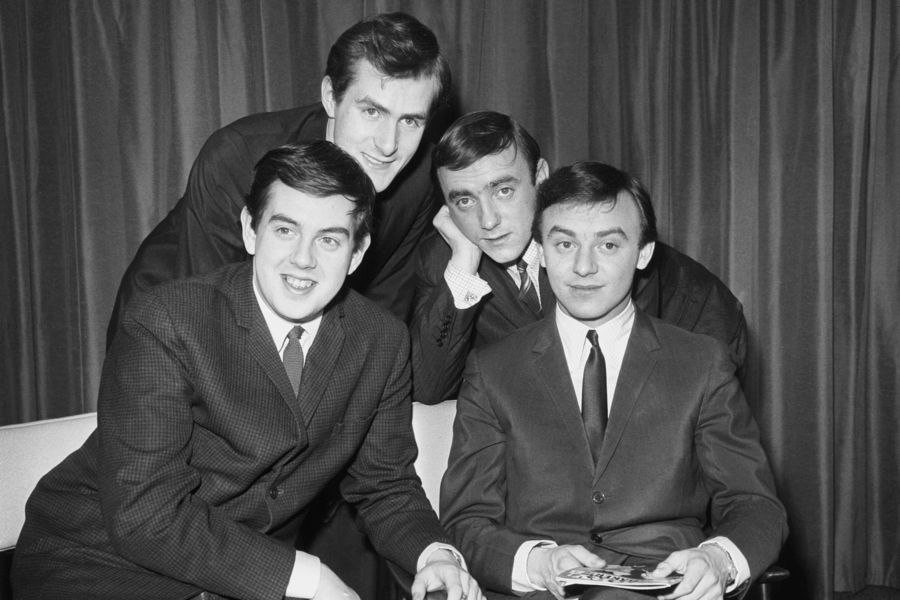 Gerry and the Pacemakers are pictured at London airport as they were about to leave for Australia.