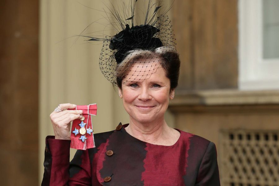 Actress Imelda Staunton after receiving a CBE from the Duke of Cambridge for services to drama at an investiture ceremony at Buckingham Palace, London.
