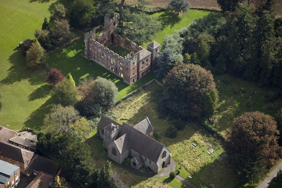 ACTON BURNELL CASTLE Aerial view  24751_005