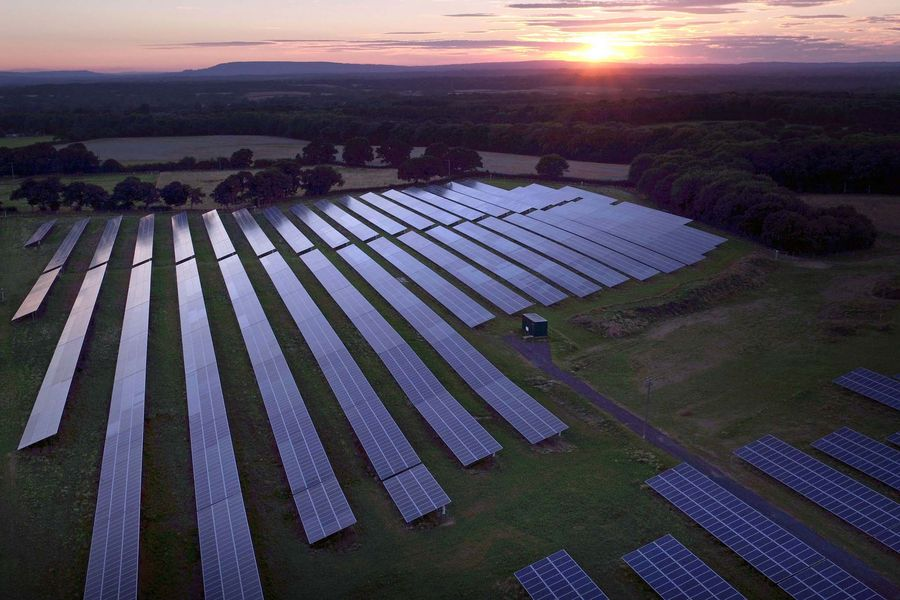 File photo dated 06/08/16 of solar panels, as The Government should help UK cities develop community clean energy schemes that cut carbon and save consumers money on bills, local leaders have said.