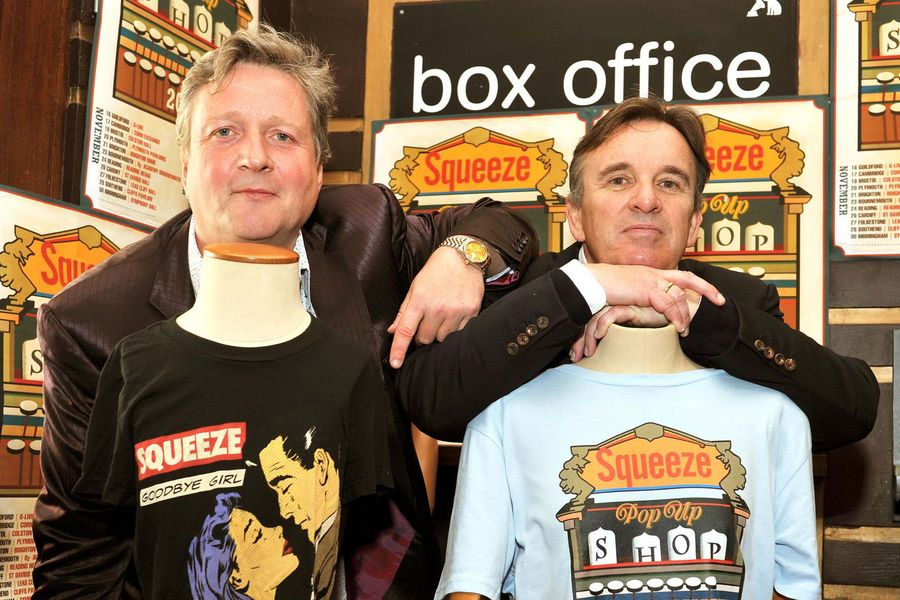 Glenn Tilbrook and Chris Difford the two founding members of the British band Squeeze.